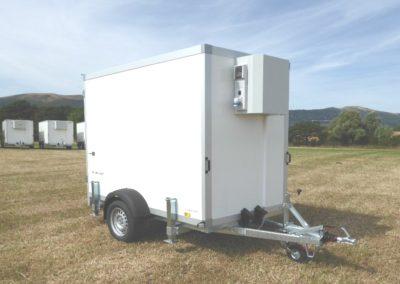 2.5m Cool-Plus fridge trailer front view