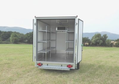 3m Cool-Plus fridge trailer back doors open