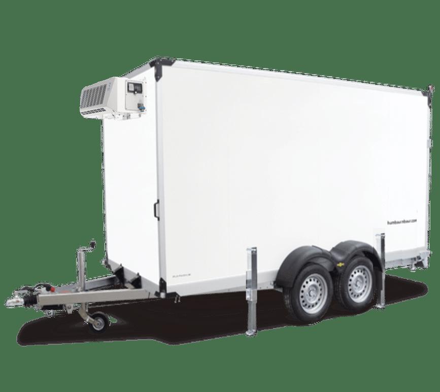 A rental freezer trailer