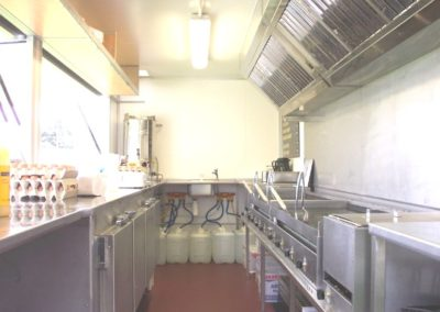 A catering trailer