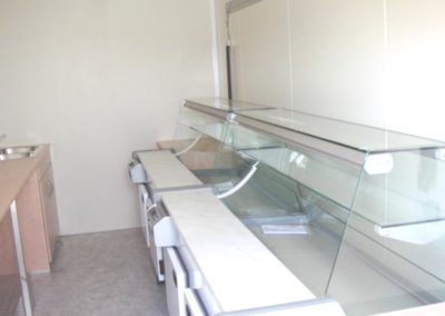 Refrigerated service counter