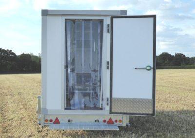 Vario-Temp Freezer Trailer - rear door open
