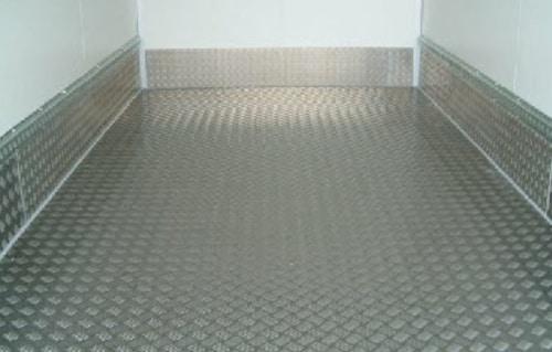 Aluminium treadplate flooring