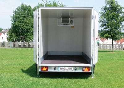 Large double doors for the Unsinn trailers